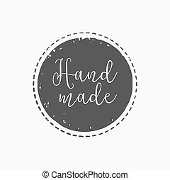 hand drawn, handcrafted, handmade stamp and ink stain with durty texture shape