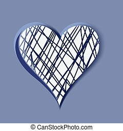 Hand-drawn heart, vector element for your design