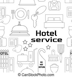 Hotel service pattern - Hand drawn Hotel service pattern. ...
