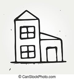 Hand drawn house