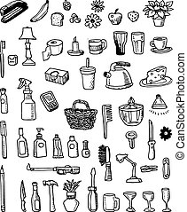 Hand-drawn Household Doodles