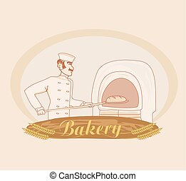 hand drawn illustration of baker