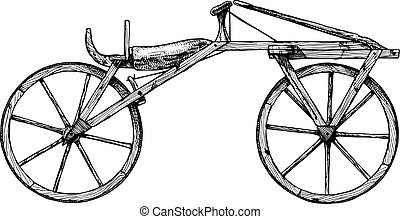 Hand drawn illustration of bicycle
