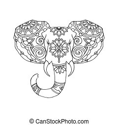 Hand Drawn Illustration of elephant