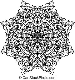 mandala isolated on white