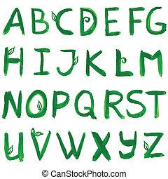Hand drawn ink alphabet. Vector format