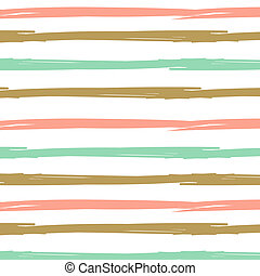 Hand drawn ink textured seamless striped background.