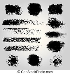 Hand drawn ink vector strokes.