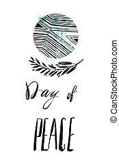 International Day of Peace vector illustration