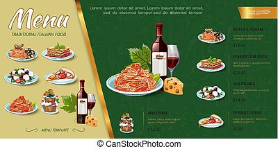 Hand Drawn Italian Food Menu Concept
