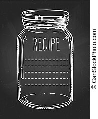 Hand drawn jar recipe template