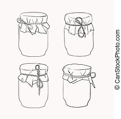 Hand drawn jars