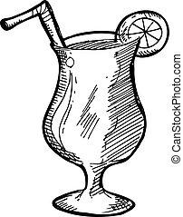 Hand drawn juice