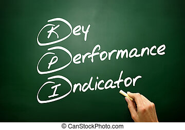 Hand drawn Key Performance Indicator (kpi) concept, business str