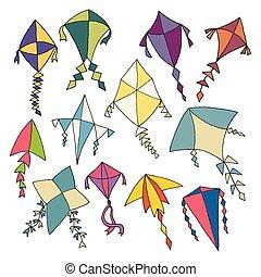 Hand Drawn Kites
