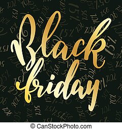 Hand drawn lettering for Black Friday.