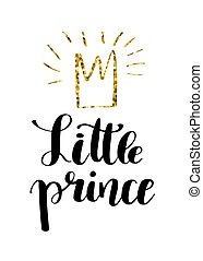 Hand drawn lettering quote Little prince - Hand drawn...