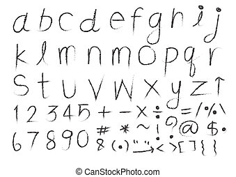 Hand drawn letters font