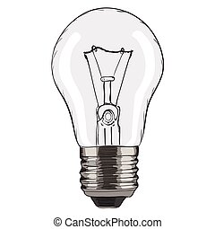 Hand-drawn light bulb.