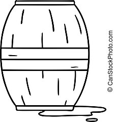 line drawing doodle of a wine barrel