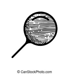Hand Drawn magnifier glass symbol