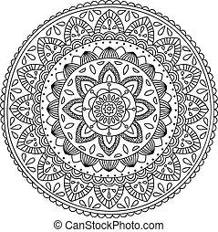 Hand drawn mandala - Detailed handdrawn mandala, perfect for...
