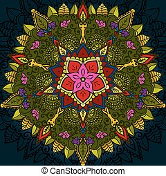 Hand drawn Mandala, Floral Design Element