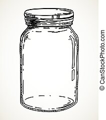 Hand drawn mason jar