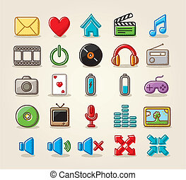 Hand Drawn Media Icons