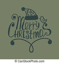 Hand Drawn Merry Christmas Decoration Of Calligraphic Design Element.