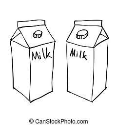 Hand drawn milk box