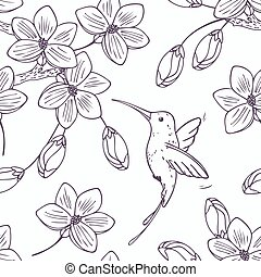 Hand drawn monochrome version of seamless pattern with...