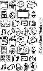 Hand drawn movie doodles