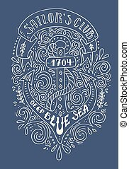 Hand Drawn Nautical Lettering - Life s roughest storms prove...
