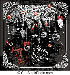 hand drawn new year card 1