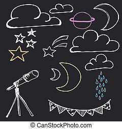 Hand Drawn Night Sky