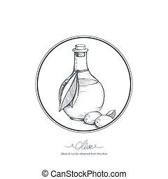 Hand-drawn olive sketch