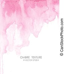 Hand drawn ombre texture. Watercolor painted light blue background