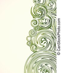 Hand Drawn ornate swirl abstract grass. Vector