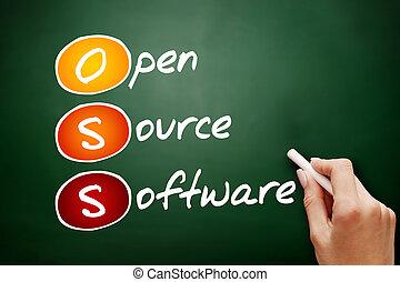 Hand drawn OSS Open source software