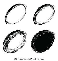 hand drawn ovals