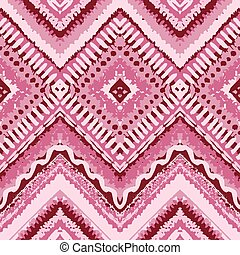 Hand drawn painted seamless pattern. Vector illustration