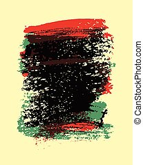 Hand drawn painting brush strokes stain abstract background. Vector illustration.