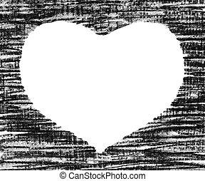Hand-drawn pastel heart shape