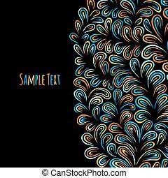 Hand drawn pattern background.