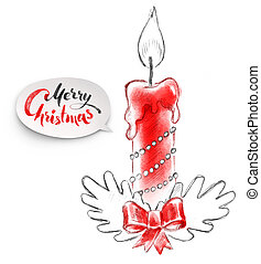 illustration of Christmas candle