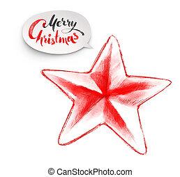 illustration of Christmas star