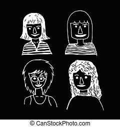 Hand drawn People men illustration design