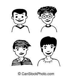 Hand drawn People men illustration design