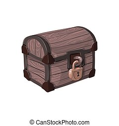 Hand drawn pirate chest.